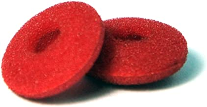 12 Pack(24pcs) Foam Earbud Earpad Replacement Sponge Covers for Earphone (Red)