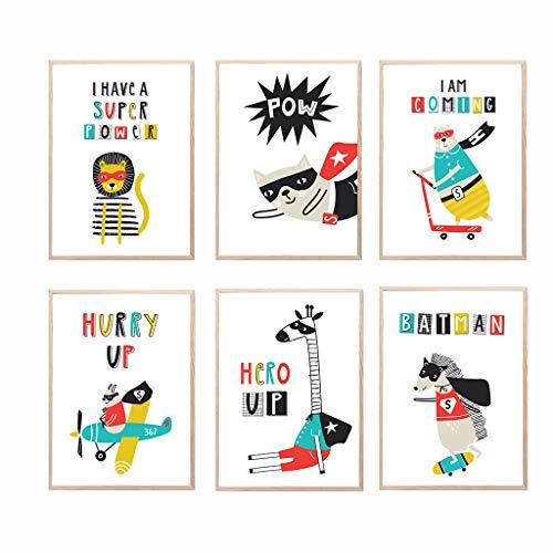Láminas infantiles para cuadros decoración habitación bebé y dormitorio juvenil de niño o...