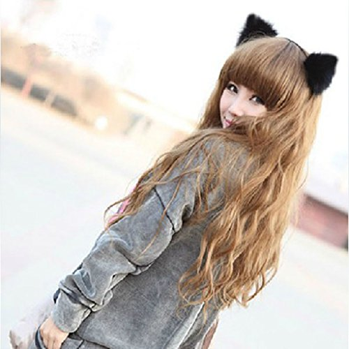 ECMQS Heißer Frauen Mädchen Mode Fuchs Plüsch Katze Ohren Stirnbänder Haarschmuck