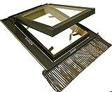 Lucernario per Tetto con Triplo Vetro Antisfondamento - Apertura Tipo Vasistas Velux/Accesso al Tetto (55 x 98 Base x Altezza)