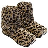 Thermo Sox Original Supersoft Hoch Hausschuhe für Ofen & Mikrowelle, Farbe:Leopard, Schuhgröße:41/45 EU