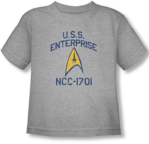 Star Trek - - Niño Colegiata Camiseta del arco, 4T, Athletic Heather