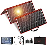 DOKIO 300W 18V Portable Foldable Solar Panel Kit (41x21inch) Folding Flexible Monocrystalline(HIGH Efficiency) Charger with 2 USB Outputs for Phones Work for 12v Battery AGM RV Camping Van