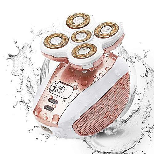 LTLGHY Depiladora Mujer Afeitadora Eléctrica - Flawless Your Legs Removedor De Pelo para Mujeres [Húmedo Y Seco/Sin Dolor] con USB Recargable Recortadora Corporal De Las Señoras Piernas, Axila