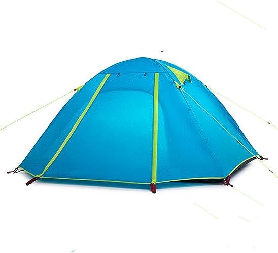 Maybesky Tente de Festival Tente de Camping imperméable légère de Pluie de Double de Gel de silice Tente de Camping familiale étanche à 100%