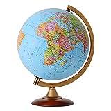 地球儀 25cm 行政図 [ライト無し] インテリア 子供用 学習 おすすめ オルビス Orbys イタリア製 (本体:青)