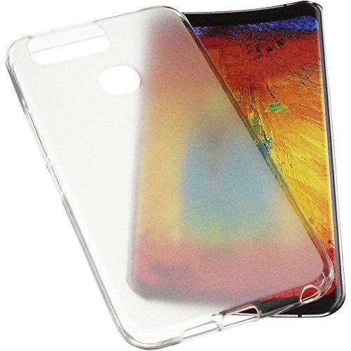 foto-kontor Tasche für Leagoo S8 Pro Gummi TPU Schutz Handytasche transparent weiß