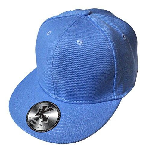 UNDERGROUND KULTURE Casquette de Baseball Réglable Tout Bleu Ciel (Plain Baby Blue Snapback)