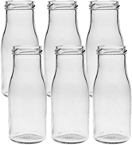 Vitrea 6/12/24 Unidades Redondas de Tipo 156. Mini jarrones de Cristal pequeños frascos Decorativos, jarrones de Cristal, Botellas de Cristal, 6 ...