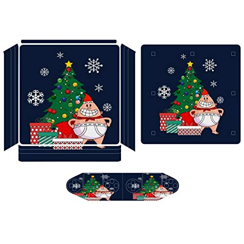 Captain Underpants Around The Christmas Tree Compatible with PS4 Slim controller and console skin sticker protective cover wireless/wired gamepad controller