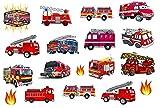 Temporary Tattoos collection Collezione di tatuaggi temporanei (Camión de bomberos Tatuaje Fire truck Tattoo)