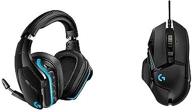 Logitech G935 Wireless DTS:X 7.1 Surround Sound LIGHTSYNC RGB PC Gaming Headset Bundle with Logitech G502 Hero High Perfor...