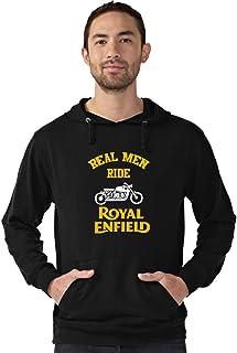 CupidStore Biker -4 Real Men Ride Royal Enfield Hoodie