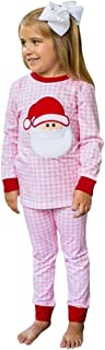 Mayunn 2-Pieces Toddler Baby Boys Girls Christmas Santa Plaid Tops Pants Pajamas Sleepwear Outfits Sets Clothes (18Months-7Years)