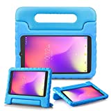 REGOKI Case for Alcatel 3T / A30 Tablet 8', Lightweight Handle Stand Kids Cover Compatible with T-Mobile 8-inch Alcatel 3T 2018 (Model 9027W) / Alcatel A30 2017 (Model 9024W) Tablet (Blue)
