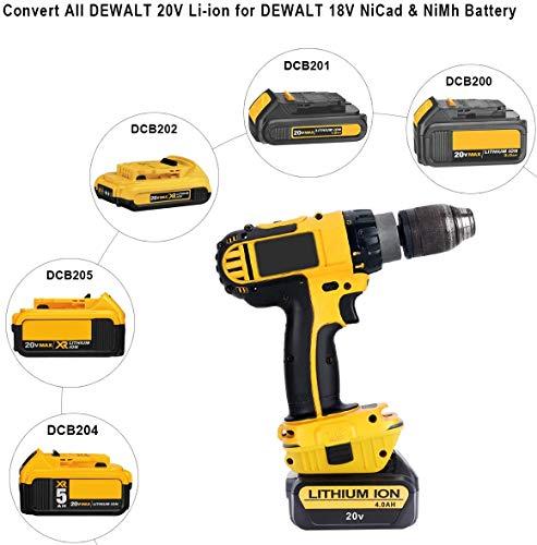 Product Image 6: DCA1820 Battery Adapter for Replace Dewalt 18V to 20V Tools Convert for Dewalt 18V NiCad & NiMh Battery Tools DC9096 DW9096 DC9098 DC9099 DW9099(USB Converter) (1 Pack)