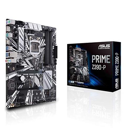 ASUS PRIME Z390-P Intel Z390 ATX (30.5 cm x 23.4 cm) Scheda Madre con Supporto DDR4 a 4266+ MHz, 32 Gbps M.2, Display oport, HDMI, M.2 e USB 3.1 Gen 2 Nativo, Nero