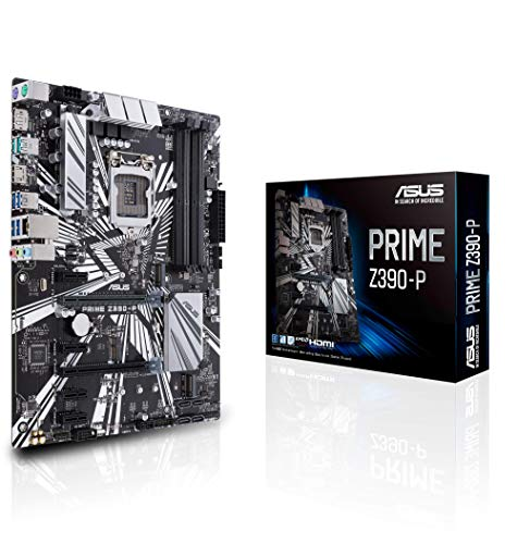Asus Prime Z390-P LGA1151 (Intel 8th and 9th Gen) DDR4 DP HDMI M.2 Z390 ATX Motherboard with USB 3.1...