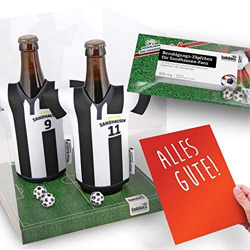 Alles für Sandhausen-Fans by Ligakakao.de Home-Trikot ist jetzt Mein TRIKOTKÜHLER Geschenk-Set (2X Trikots + 1 ZÄPFCHEN)