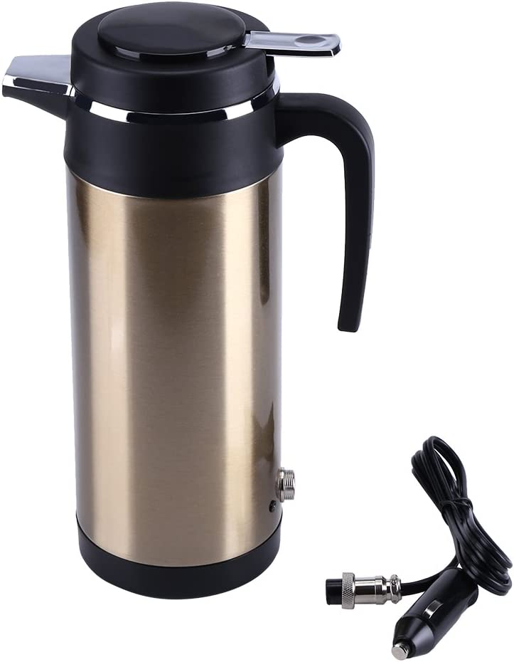 Acogedor Dealing full price reduction Car Kettle Portable Year-end annual account Stainless Steel El Travel Truck