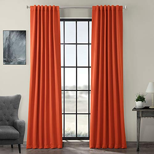 HPD Half Price Drapes BOCH-201304-120 Blackout Room Darkening Curtain (1 Panel), 50 X 120, Blaze