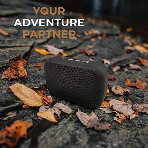 Syvo Soul 100 Bluetooth 5.0 Wireless IPX4 Super Bass, HD Sound, Aluminium Alloy Portable 3W Bluetooth Speaker with Mic (Black)