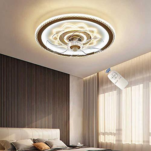 JWWS VOMI LED Lámpara De Abanico, Luz De Ventilador Silencioso Invisible, Control Remoto Regulable Luz De Techo, Velocidad del Viento Ajustable Ventilador De Techo con Iluminación