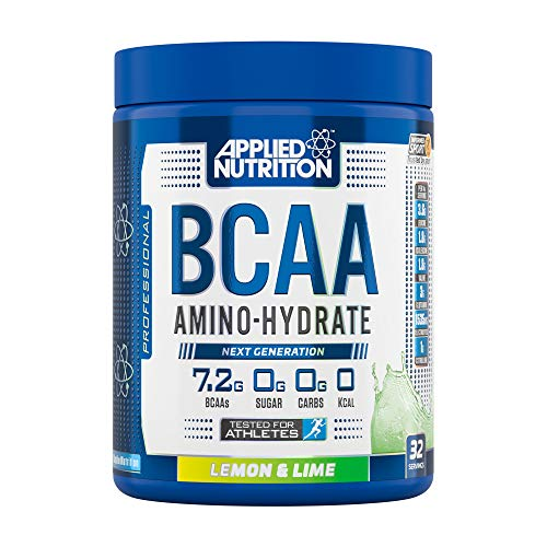 Applied Nutrition BCAA Powder Branched Chain Amino Acids Supplement with Vitamin B6, Replenish Electrolytes, Amino Hydrate Intra Workout and Recovery Powdered Energy Drink 450g (Lemon & Lime)