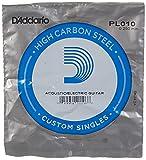 D'Addario PL010 - Cuerda para guitarra eléctrica de acero, talla 10, 1 unidad