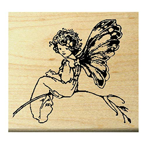 P19 Butterfly Fairy Rubber Stamp WM