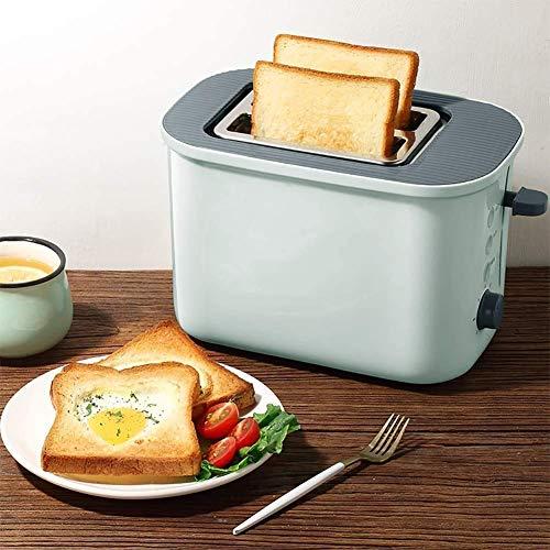 CAIJINJIN Máquina para hornear Tostadora, premium rápida y uniformemente 2 Slice Toaster con extra ancho de la ranura, 7 Ajustes de sombra de pan, panecillo / Descongelar / recalentamiento / cancelar
