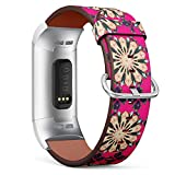 Compatible with Fitbit Charge 4, Charge 3, Charge 3 SE - Replacement Leather Wristband Watch Band Strap Bracelet for Men and Women - Baby Shower Menu Flyer Banner