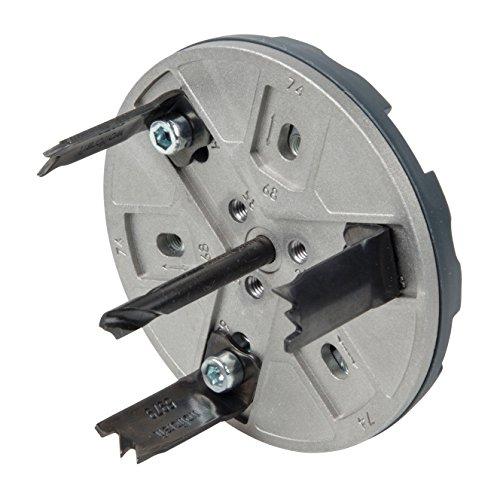 Wolfcraft 5983000 sierra de corona ajustable para instalaciones eléctricas en construcción seca,...