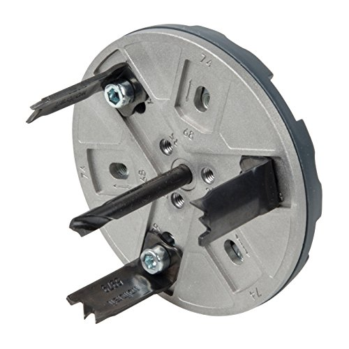 Wolfcraft 5983000 Sierra de Corona Ajustable para Instalaciones Elé, 0 W, 1 V, Ø 35, 65, 68, 74, 76 & 83 mm