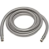 Kelaro Ice Maker Connector Hose, 10-Foot Stainless Steel - 1/4' Compression Connections - Lead Free