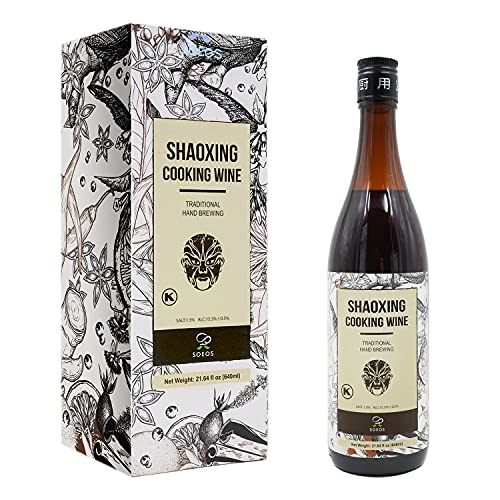 Soeos Shaoxing Cooking Wine, Shaoxing Wine, Chinese Cooking Wine, Rice Cooking Wine, 640ml. (Regular, 1 Pack)