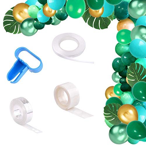 Yiran Jungle Safari Theme Balloon Garland Arch Kit Birthday Party Decorations 78pcs Green and Gold Balloons 16Ft Long for Kids Boys Baby Shower