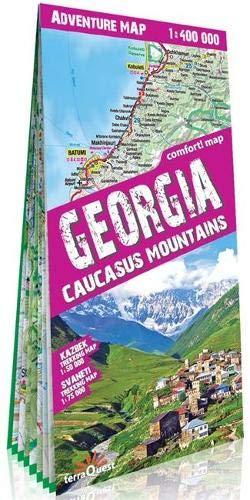 terraQuest Adventure Map Georgia (trekking map)