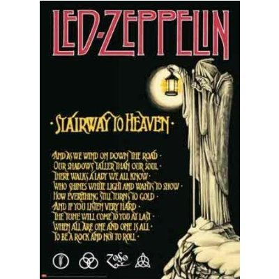 Led Zeppelin Giant Poster Stairway To Heaven 40x55