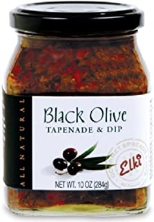 Gourmet Black Olive Tapenade Spread - Perfect for Grilled Meat, Pizza, Crackers, Salad or Garnishing | Gluten-Free | Non-GMO Low Calories | All-Natural Ingredients | 10 Ounce by World Market