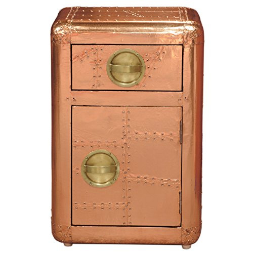 Right2Home Pulaski Pulaski Handmade Aviation Accent Chest, Medium, Bronze