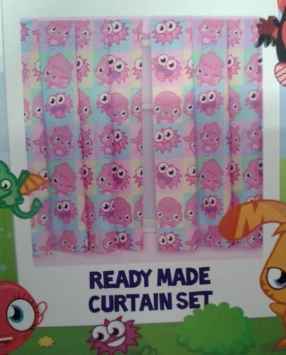Moshi Monsters ONE Pair Poppet Curtains 66' X 72' Approx