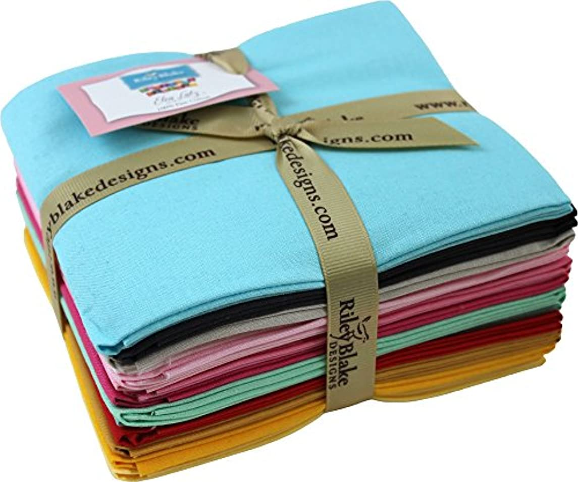 Elea Lutz Confetti Cottons Designer Colors 14 Fat Quarter Bundle Riley Blake Designs FQ-EL120-14
