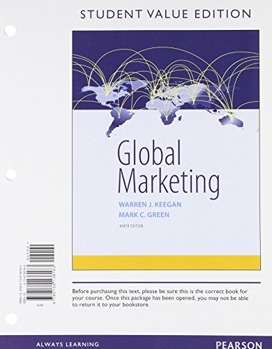 Global Marketing, Student Value Edition (9th Edition)