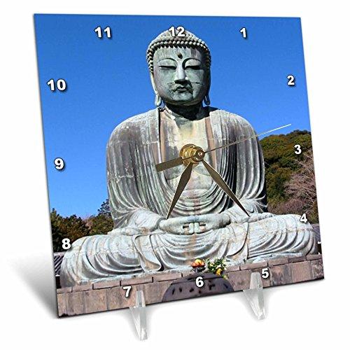 3dRose LLC Buddha Desk Clock, 6 by 6-Inch