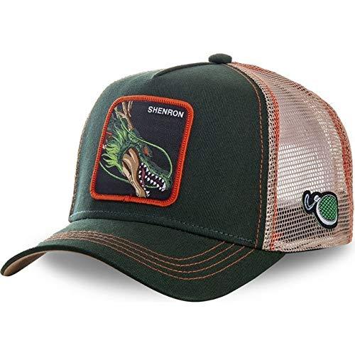 Gorra de béisbol de algodónSnapbackHombres Mujeres Hip Hop Papá Sombrero de Malla Sombrero de Camionero-Shenron