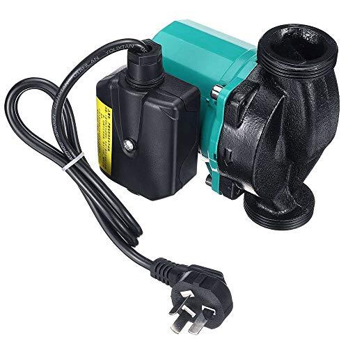 QWERTOUY 3-Gang 220V Zentralheizung Zirkulator Mute Boiler Warmwasserumwälzpumpe F-Klasse Isolierung IP42 Schutz Gusseisen,250w2inch
