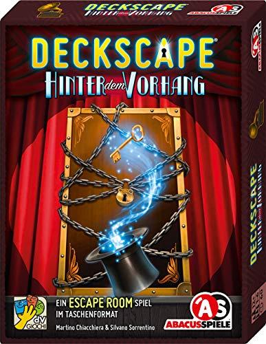 ABACUSSPIELE 38191 - Deckscape – Hinter dem Vorhang, Escape Room Spiel, Kartenspiel