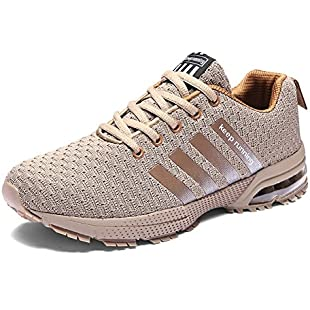 Customer reviews Senbore Men Casual Sports Shoes Air Trainers Fitness Flats Running Athletic Competition Sneakers (UK 12, Brown):Donald-trump