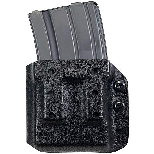 Black Scorpion Gear AR-15, M4, M16 Kydex Magazine Pouch Ambidextrous with Adjustable Belt Attachment